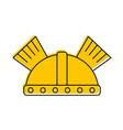 game warrior helmet icon vector image vector image