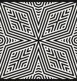 geometric black and white lines seamless pattern vector image