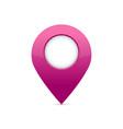 glossy purple map pin vector image