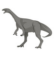 grey dinosour on white background vector image vector image