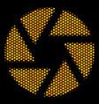 hexagon halftone shutter icon vector image vector image