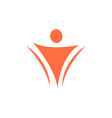 human icon logo design template vector image vector image