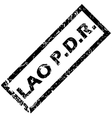 LAO PDR rubber stamp vector image