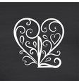 Love you Blackboard background vector image vector image