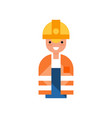 male construction worker character man wearing vector image
