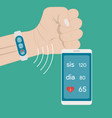 measurement and monitoring blood pressure with vector image vector image