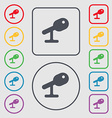 Microphone Speaker icon sign symbol on the Round vector image