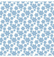 monochrome seamless christmas pattern with blue vector image vector image