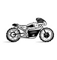 moto bike icon cafe racer vector image vector image