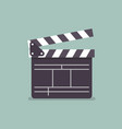 movie clapper in flat style vector image vector image