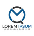 mq letter logo design vector image vector image