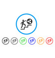 person climbing to ripple rounded icon vector image vector image