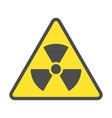 radioactive zone sign or symbol warning vector image