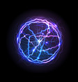 realistic electric ball or abstract plasma sphere vector image vector image
