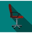 Red office chair icon flat style vector image vector image