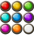 Round buttons in different colors vector image
