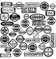 Rubber stamps with sale messages vector image vector image