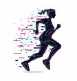 running girl silhouette woman run vector image vector image