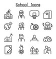 school university high school education icon set vector image vector image