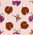 seamless pattern with hand drawn colored gloriosa vector image vector image