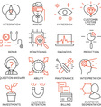 Set of icons related to business management - 16 vector image