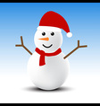 Snowman in winter vector image vector image