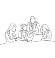 startup work life concept one single line drawing vector image vector image