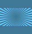 sun rays background blue radiate beam burst vector image vector image