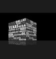 texas words cloud vector image vector image