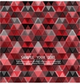 Triangles red background design vector image vector image