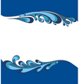 Water splash background vector image vector image