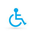 wheelchair handicapped or accessibility parking vector image vector image