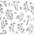 wild flower pattern floral seamless wallpaper vector image