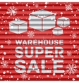 Winter warehouse super sale vector image