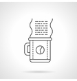 Work coffee icon flat line design icon vector image vector image