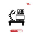 workplace icon vector image vector image