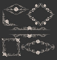 ornamental floral frames set vector image