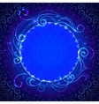 Abstract blue mystic lace background with swirl vector image