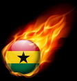 Round glossy icon of ghana vector image