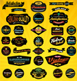 Black label collection vector image