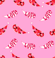 Valentines Day seamless love pattern vector image