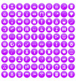 100 adult games icons set purple vector image vector image