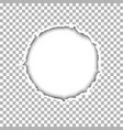 a ragged round hole with soft shadow vector image vector image