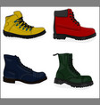 a set of shoes casual shoes eps 8 vector image vector image