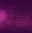 abstract mandala background vector image vector image
