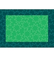 background frame green vector image vector image