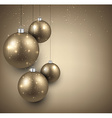 Background with golden christmas balls vector image vector image