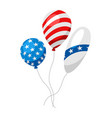 balloons in american flag colors vector image vector image