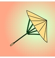 Bamboo umbrella pop art vector image
