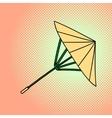 Bamboo umbrella pop art vector image vector image